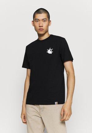 NAILS - Print T-shirt - black/white