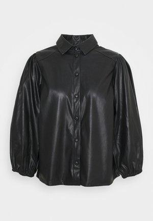 PCSALIRA - Button-down blouse - black