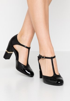 LEATHER PUMPS - Korolliset avokkaat - black
