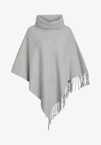 OBJMARILYN OUTERWEAR - Poncho - light grey melange