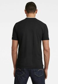 G-Star - BASEBALL COLLAR GRAPHIC SLIM POLO - Print T-shirt - dk black - 1
