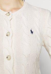 Polo Ralph Lauren - CARDIGAN LONG SLEEVE - Chaqueta de punto - cream - 5