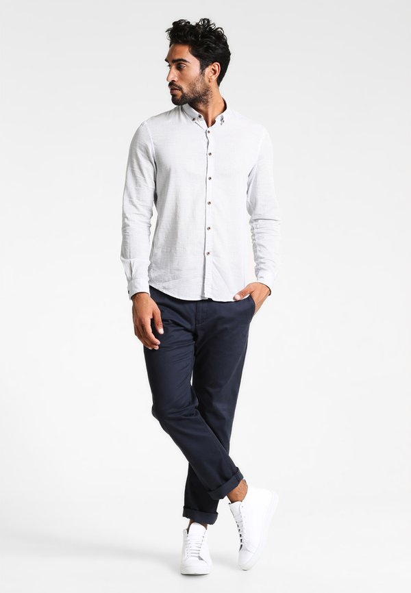 TOM TAILOR DENIM Koszula - white/biały Odzież Męska YLAJ