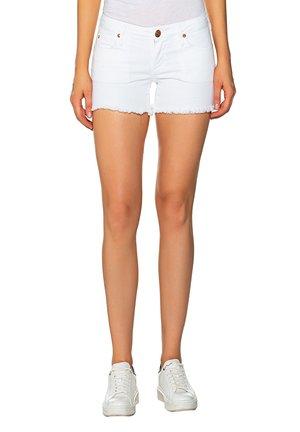 JOEY TRUEFLEX - Denim shorts - off white