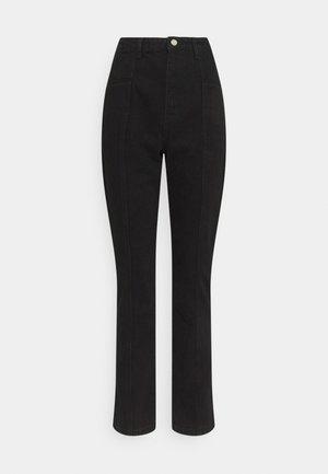 FRONT DETAIL - Jeans slim fit - black