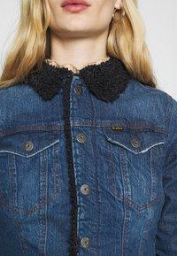 G-Star - 3301 SLIM SHERPA - Denim jacket - antic faded oregon blue - 5