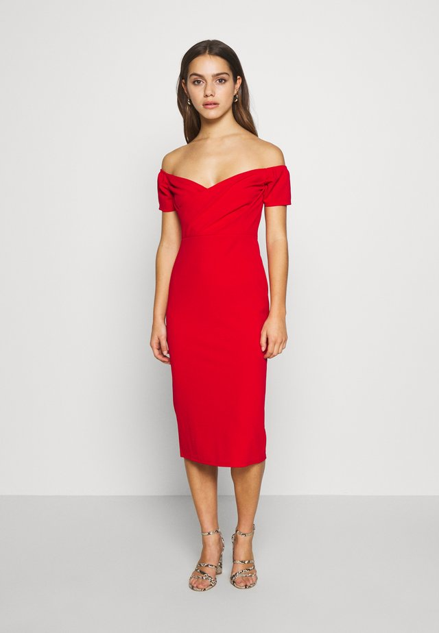 BARDOT DRESS - Sukienka koktajlowa - red