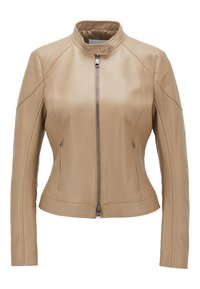 BOSS - SAFLAMA - Leather jacket - brown - 0