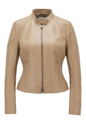 SAFLAMA - Leather jacket - brown