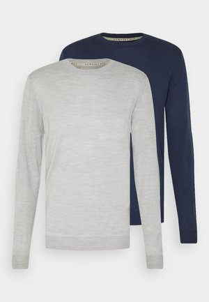 CREW 2 PACK - Trui - navy/grey