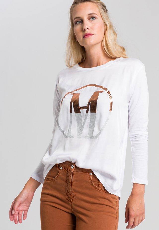 Long sleeved top - white varied