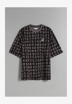UNISEX NATURO OVERSIZED - T-shirt imprimé - black