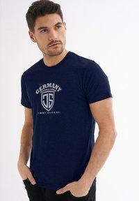 Jimmy Sanders - Print T-shirt - dunkelblau - 2