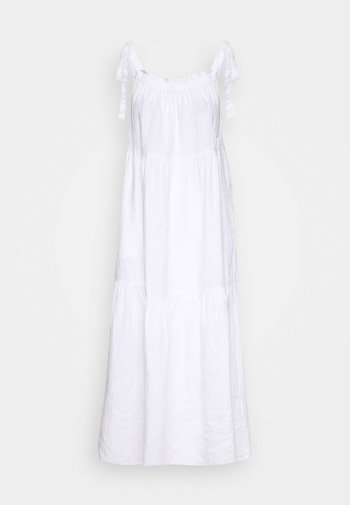 DRESS HIGH SUMMER STYLE SHOULDER STRAPS - Maxi-jurk - white