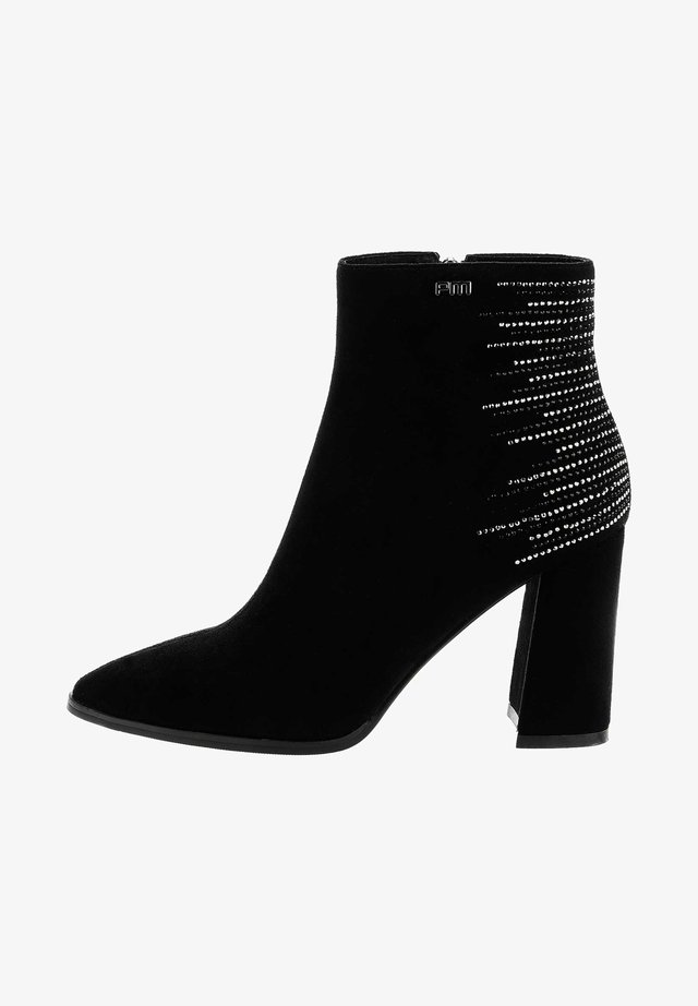 FERGINO - High heeled ankle boots - black