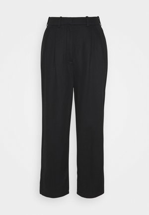 PAPERBAG PANTS - Trousers - black