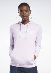 Reebok Classic - CLASSICS VECTOR HOODIE - Bluza z kapturem - pixel pink - 0
