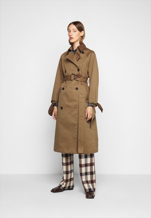 TIE SLEEVE - Trenchcoat - fawn brown