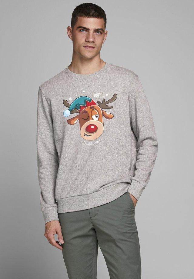 X-MAS-PRINT - Sweatshirts - light grey melange