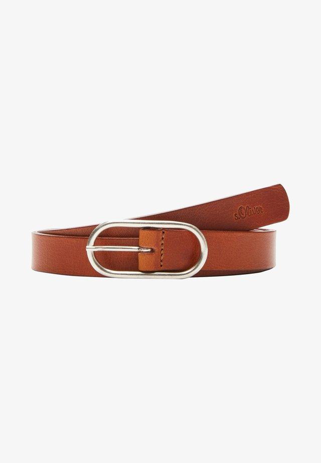 POURVUE D'UNE BOUCLE ARRONDIE - Belt - brown