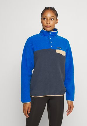 SYNCH SNAP - Fleece jumper - smolder blue/alpine blue