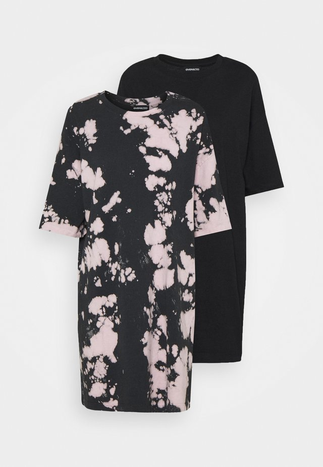 2 PACK - Vapaa-ajan mekko - black/lilac