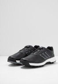 adidas Golf - CP TRAXION BOA - Golfové boty - core black/footwear white/silver metallic - 2