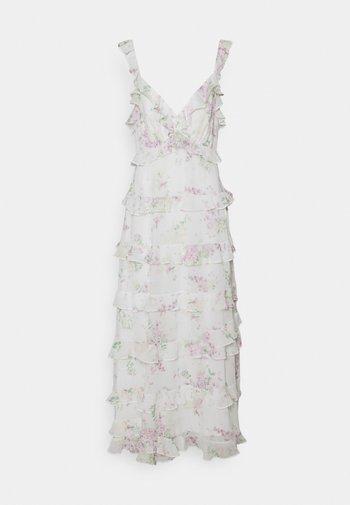 JOYCE RUFFLE DRESS - Robe longue - soft botanics