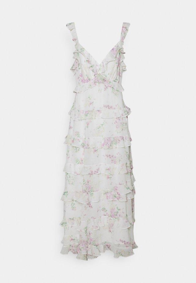 JOYCE RUFFLE DRESS - Długa sukienka - soft botanics