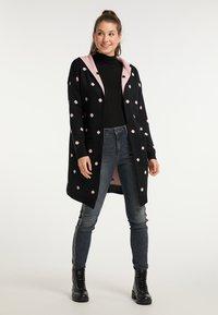 myMo - Cardigan - schwarz rosa - 1