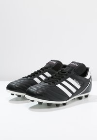 adidas Performance - KAISER 5 LEATHER FOOTBALL BOOTS FIRM GROUND - Voetbalschoenen met kunststof noppen - black/running white/rot - 6