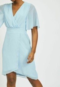 Vila - VIRILLA 2/4 SLEEVE DRESS - Vestito elegante - cashmere blue - 4