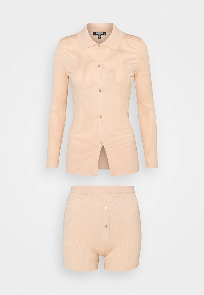 Missguided Petite - COLLAR CARDIGAN AND BUTTON - Cardigan - peach