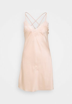 LACE TRIM SATIN NIGHTIE  - Negligé - gold