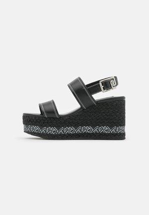 BELLA WEDGE  - Platform sandals - black