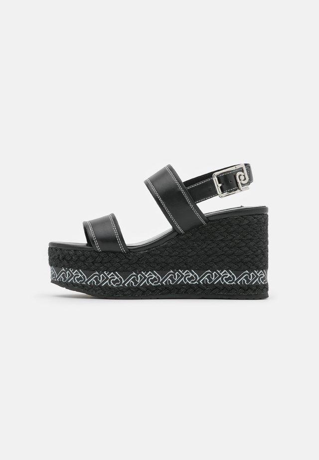 BELLA WEDGE  - Sandály na platformě - black