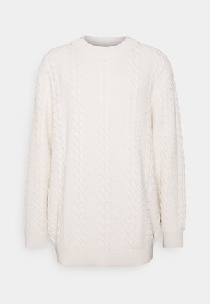 JPRBLUJULIAN CABLE HIGH NECK - Maglione - whisper white
