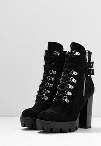 RAID - LONDON - Kotníková obuv na vysokém podpatku - black - 4