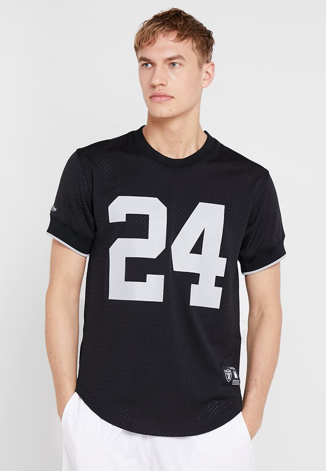 LOS ANGELES RAIDERS CHARLES WOODSON - T-shirt imprimé - black