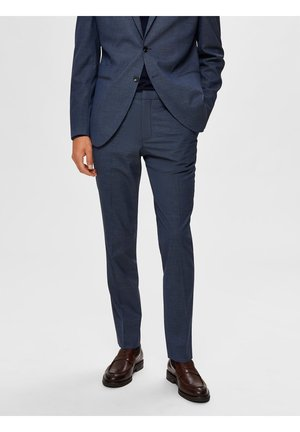Suit trousers - medium blue melange