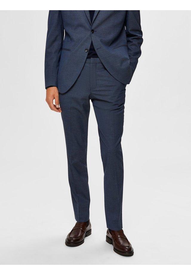 Pantalon - medium blue melange
