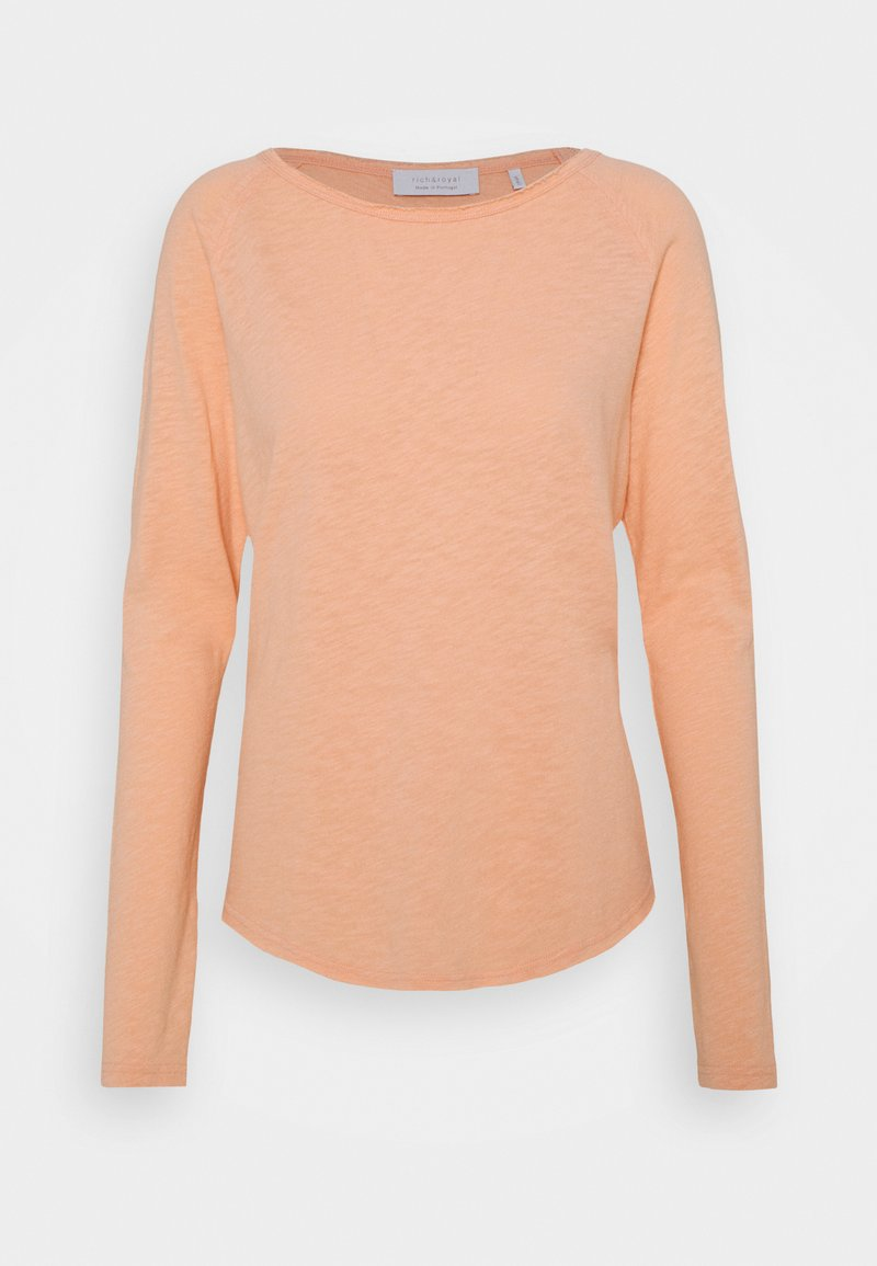 Rich & Royal - HEAVY LONGSLEEVE - Long sleeved top - peach