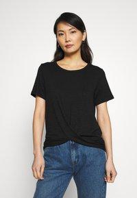 GAP - Basic T-shirt - true black - 0