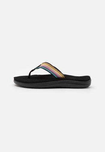 VOYA - T-bar sandals - antiguous black/multicolor