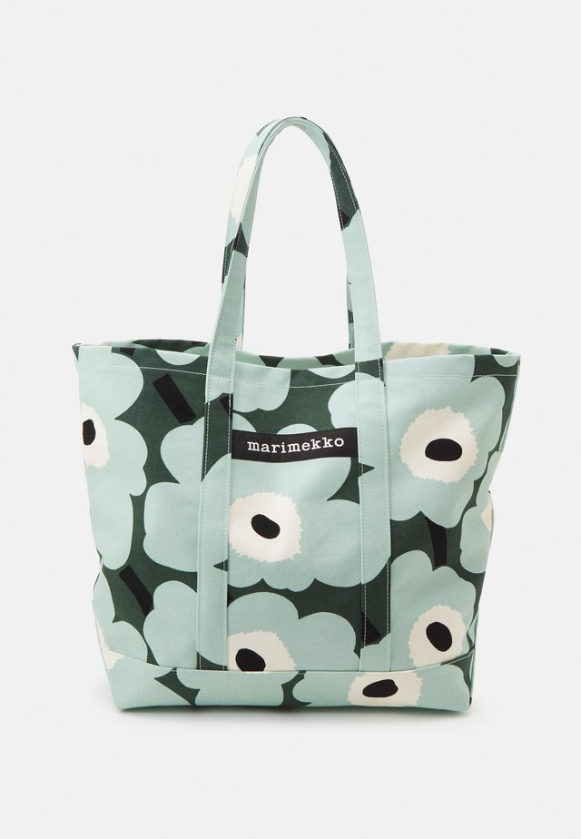 PERUSKASSI PIENI - Tote bag - dark green/green/off white