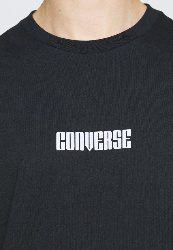 Converse STAR CHEVRON BOX SHORT SLEEVE TEE - T-shirt z nadrukiem - converse black/czarny Odzież Męska VOIJ