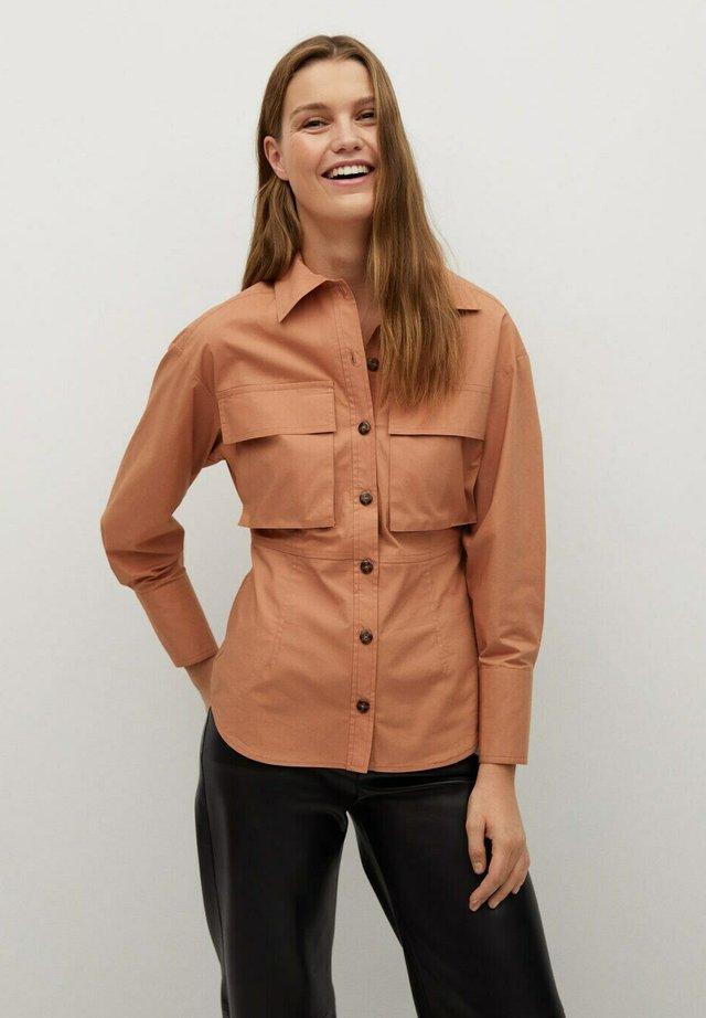 ALICIA-A - Button-down blouse - fersken