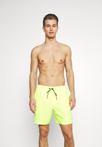 SWIM MEN MEDIUM LENGTH - Plavky - neon yellow