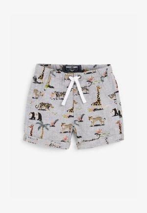2 PACK LINEN BLEND SHORTS - Shorts - grey