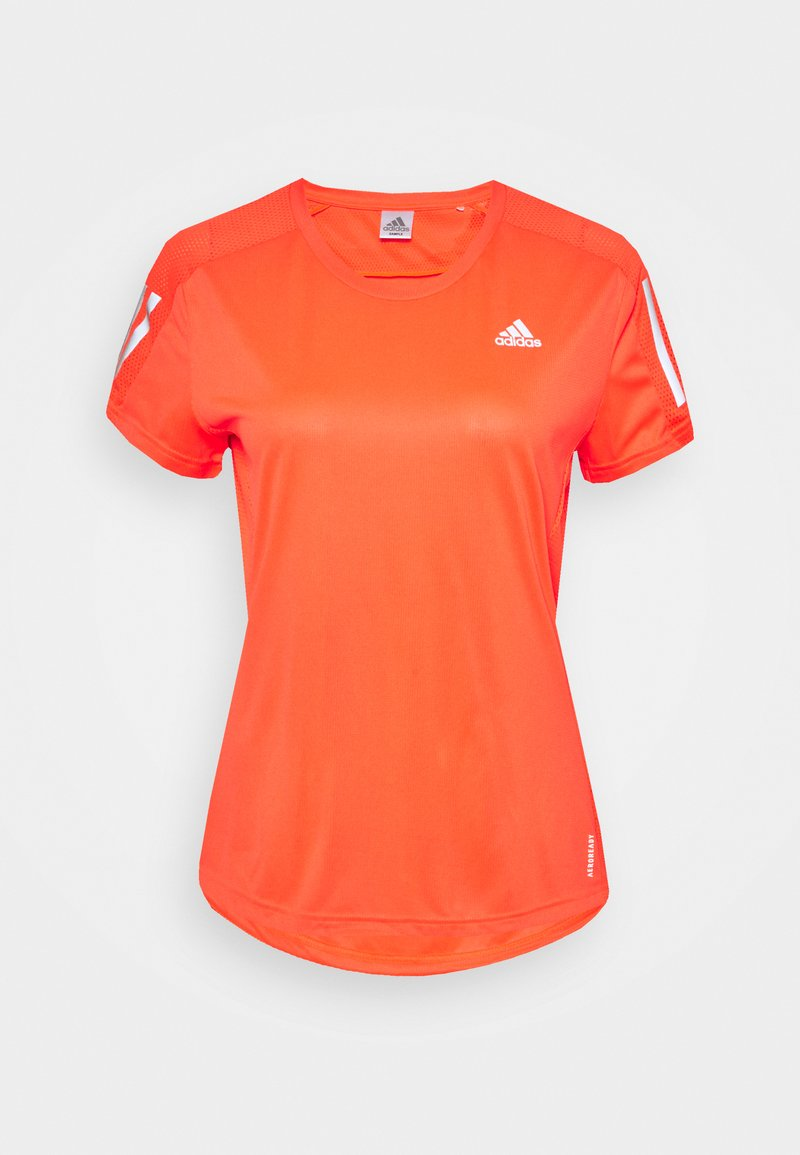adidas Performance - OWN THE RUN TEE - T-shirts med print - app solar red